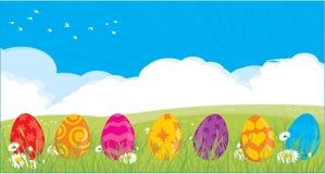 пасхальные яйца предпосылки иллюстрация вектора