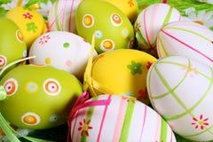 пасхальные яйца предпосылки Стоковое Изображение