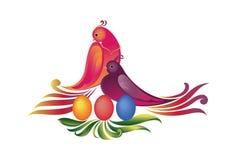 пасхальные яйца птиц бесплатная иллюстрация