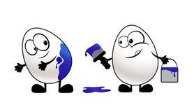 пасхальные яйца смешные Стоковая Фотография RF
