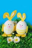 пасхальные яйца смешные стоковое изображение