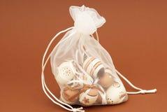 пасхальные яйца смычка Стоковое Фото