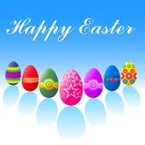 пасхальные яйца счастливые Стоковая Фотография RF