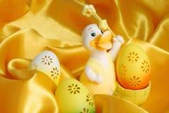 пасхальные яйца утки стоковые фото