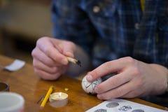 пасхальные яйца цвета стоковые изображения