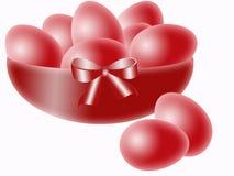 пасхальные яйца шара красные Стоковые Изображения RF
