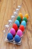 пасхальные яйца 12 шоколада цветастые Стоковая Фотография RF