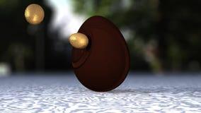 Пасхальные яйца 3d иллюстрация штока