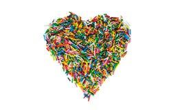 Пасха брызгает, кондитерская в сердце формы, изолированном на белой предпосылке Стоковое Фото