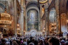Пасха 2014 в соборе St Volodymyr Украины 22.04.2014 // Стоковое Изображение RF