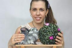 Пасха Красивейшая девушка с Стоковое Изображение