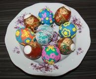 Пасха украшенные пасхальные яйца Стоковое Изображение RF