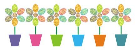 пасха цветет рядок Иллюстрация вектора
