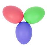 3 пасхального яйца в круге Стоковые Фото