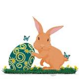 Пасхальное яйцо владением кролика Стоковое Фото