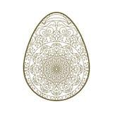 Пасхальное яйцо кружевное Стоковое Изображение RF