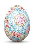 Пасхальное яйцо с абстрактной картиной Стоковые Фотографии RF