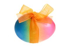 Пасхальное яйцо с лентой Стоковое Изображение
