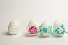 Пасхальное яйцо сделанное от пряжи Стоковая Фотография