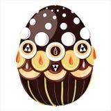 Пасхальное яйцо украшенное с Стоковая Фотография