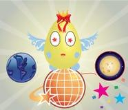 Пасхальное яйцо шаржа Стоковое Фото