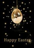 Пасхальное яйцо шарика диско Стоковая Фотография RF