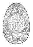 Пасхальное яйцо Zentangle черно-белое декоративное Стоковые Фото