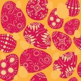 пасхальные яйца безшовные иллюстрация штока