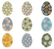 Пасхальные яйца вектора с абстрактными картинами Бесплатная Иллюстрация