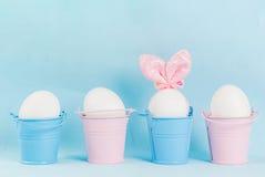 Пасхальные яйца выглядеть как зайчики Стоковое Изображение RF