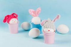 Пасхальные яйца выглядеть как зайчики Стоковое Фото