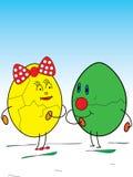 Пасхальные яйца в влюбленности Стоковое фото RF
