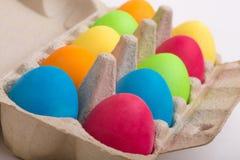 Пасхальные яйца в коробке Стоковые Фото