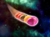 Пасхальные яйца в космосе стоковые изображения rf
