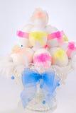 Пасхальные яйца в белом шаре Стоковая Фотография