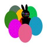 Пасхальные яйца зайчика пасхи и, Стоковая Фотография