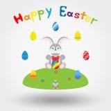 пасхальные яйца зайчика иллюстрация вектора