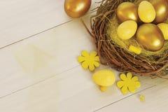 пасхальные яйца золотистые Стоковые Фотографии RF