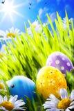 Пасхальные яйца искусства Стоковое Изображение