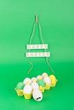 Пасхальные яйца и яичко с усиком битника Стоковые Изображения