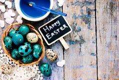 Пасхальные яйца картины Стоковое фото RF