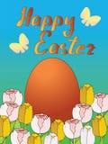пасхальные яйца карточки счастливые Стоковые Фото