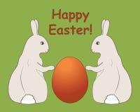 пасхальные яйца карточки счастливые Стоковые Фотографии RF