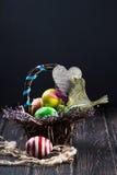 пасхальные яйца корзины Стоковые Фото
