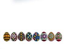 Пасхальные яйца на белой предпосылке Стоковая Фотография RF