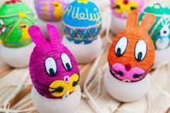 пасхальные яйца домодельные Стоковые Изображения