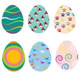 пасхальные яйца предпосылки установили 3 Стоковые Фотографии RF
