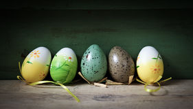 пасхальные яйца предпосылки Стоковое Фото