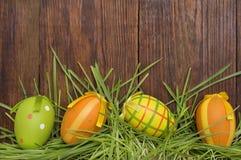 Пасхальные яйца Смешное украшение пасха счастливая Стоковые Изображения