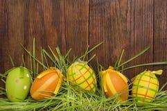 Пасхальные яйца Смешное украшение пасха счастливая Стоковые Фотографии RF